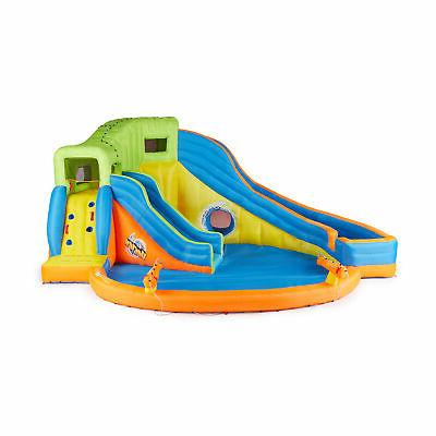Banzai Pipeline Twist Inflatable Water Park and Slides
