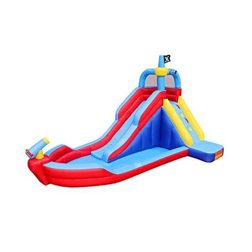pirate boat inflatable water slide