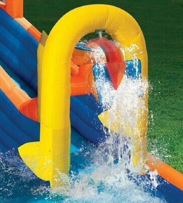 Banzai Plummet Inflatable Water Slide Pool