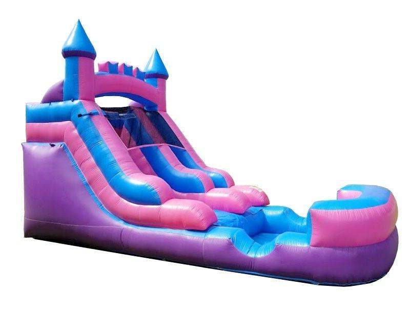 Pogo Kids Princess Pink Inflatable Water Slide With Blower &