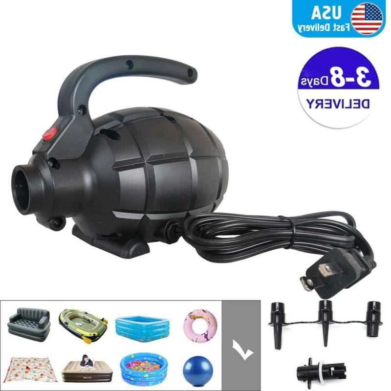 Portable Electric Air Pump For Inflatable Swimming Pool & U.S.A