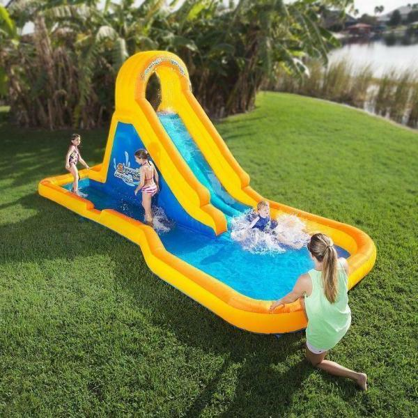 Portable Yellow/ Golds and Kids House Waterslide