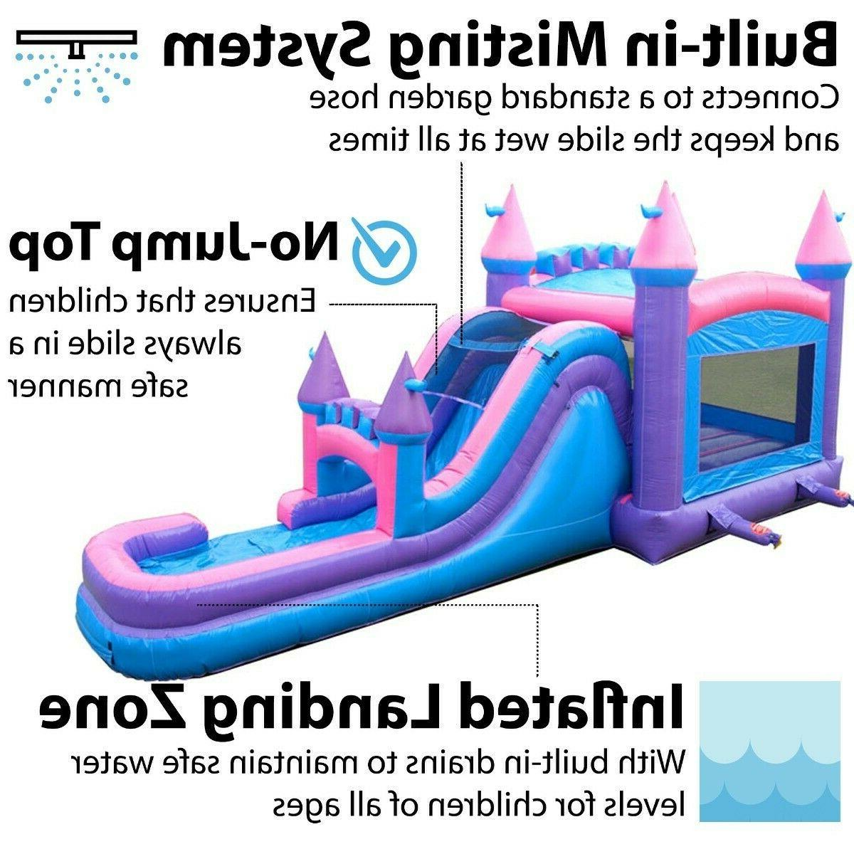 Princess Inflatable Big Water Slide Bounce Combo With