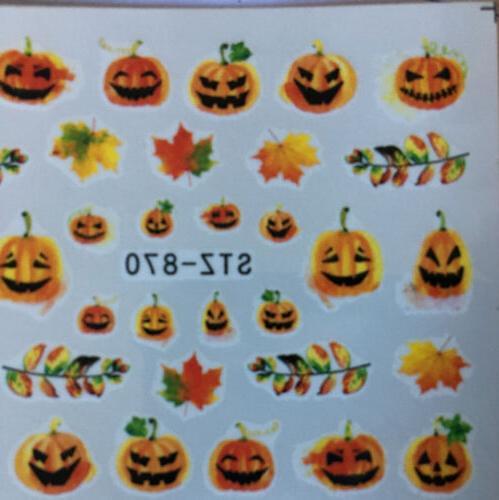 Pumpkin /Water Nail Decals/Nail art