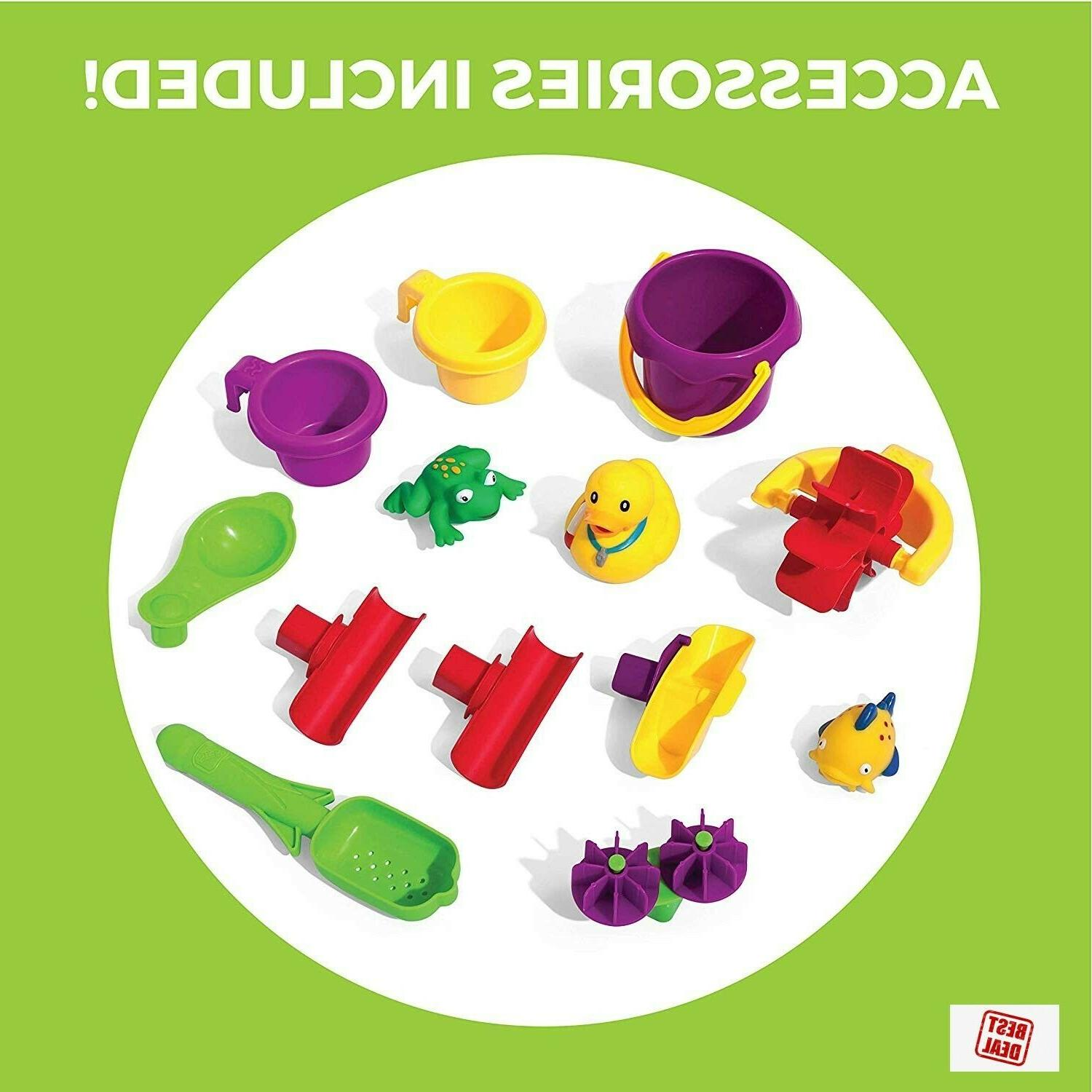 Step2 Showers Splash Pond For Kids With Accessory Set