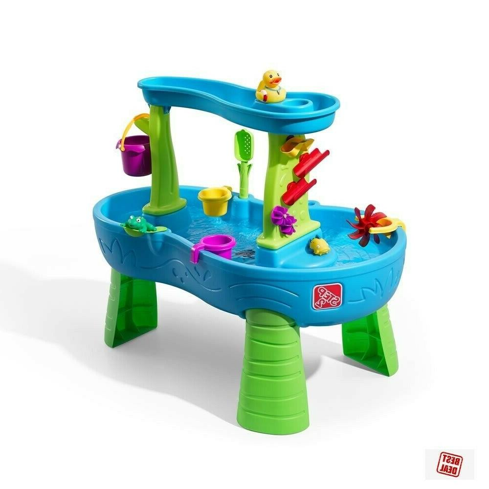 Step2 Showers Pond Water Table For Kids With 13 Pc Accessory