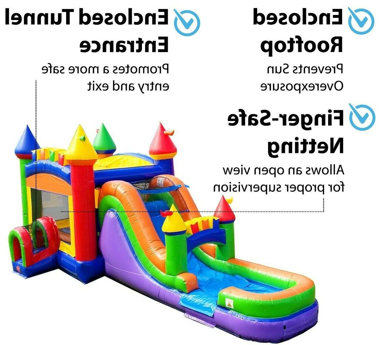 Rainbow Inflatable Water Bounce Combo With