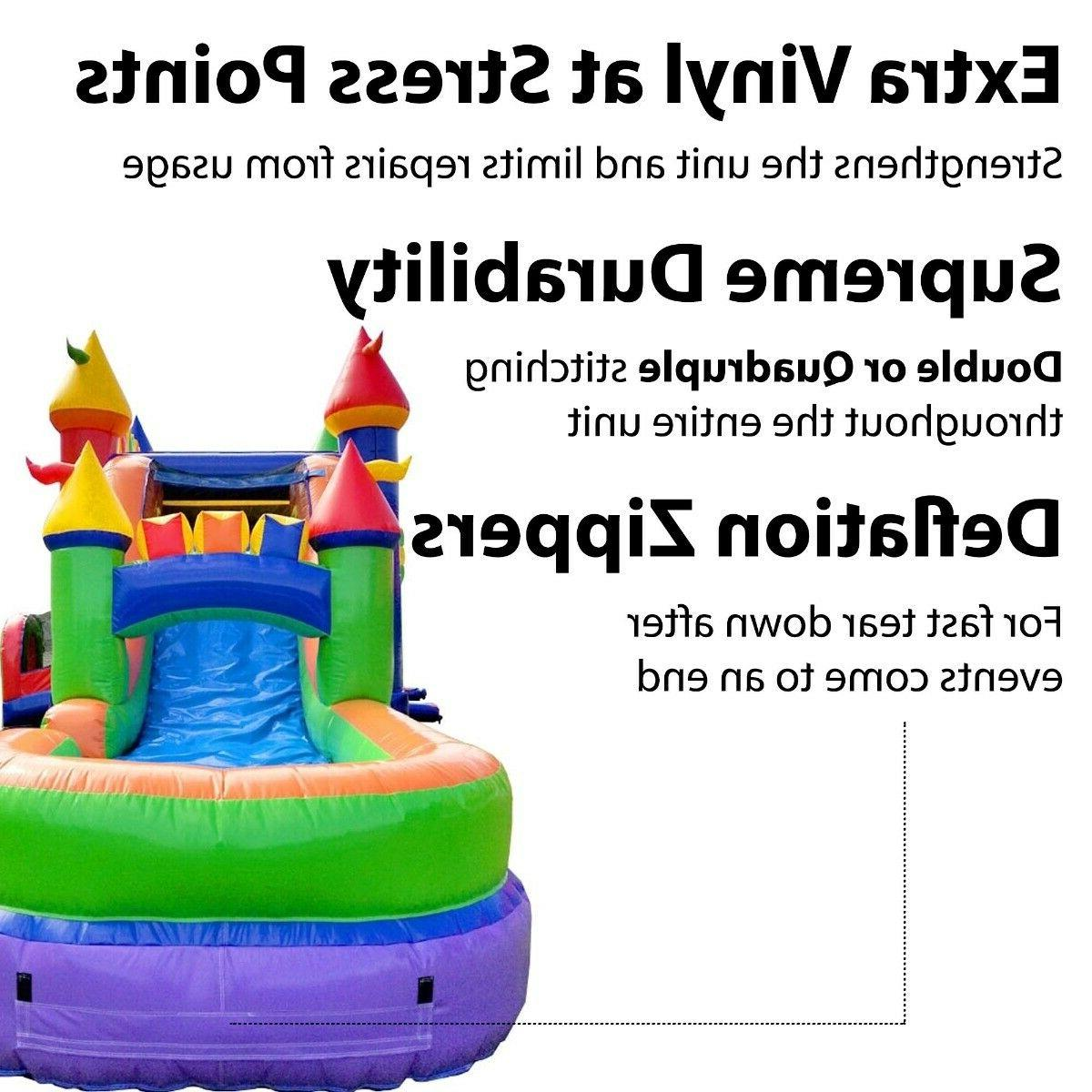 Rainbow Inflatable Big Water Slide Combo