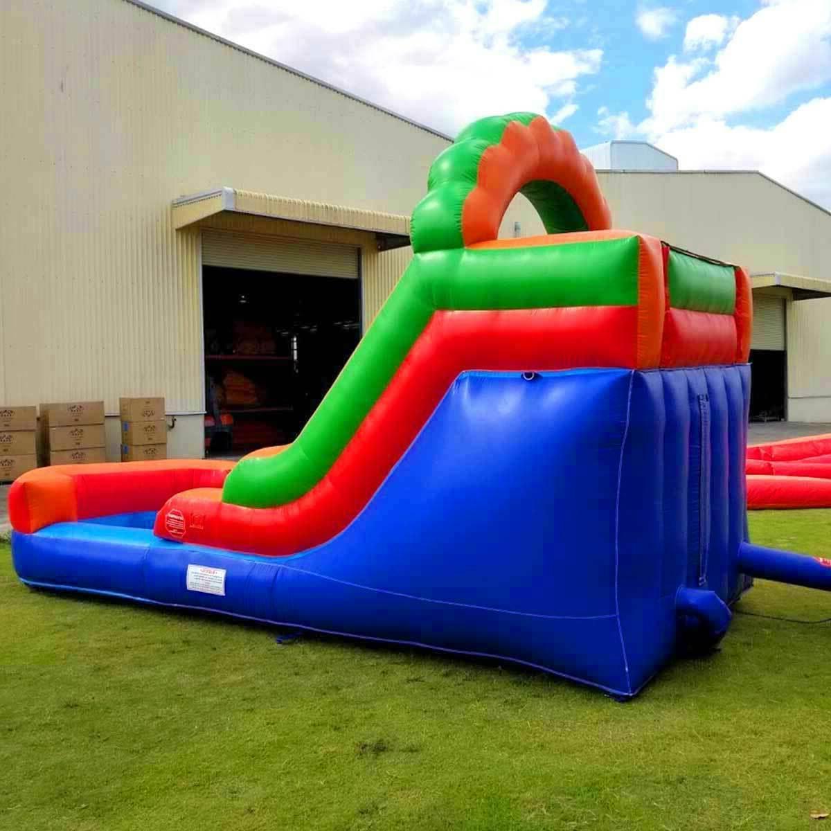 Rainbow Inflatable Slide Single Wet Blower