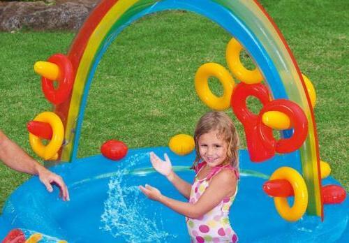 "Intex Rainbow Play Center, 76"" Ages 2+"