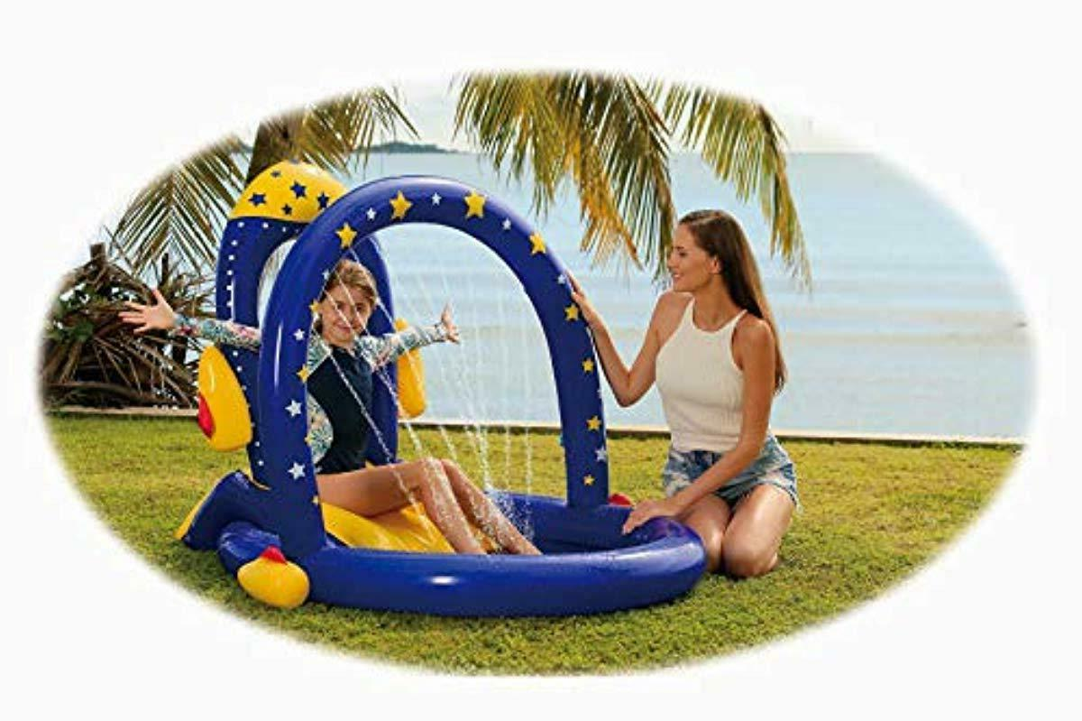 Rocket Slide Inflatable Playground with Infant