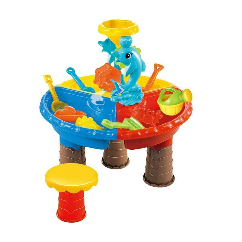 Sandbox and Table Beach Play for Children