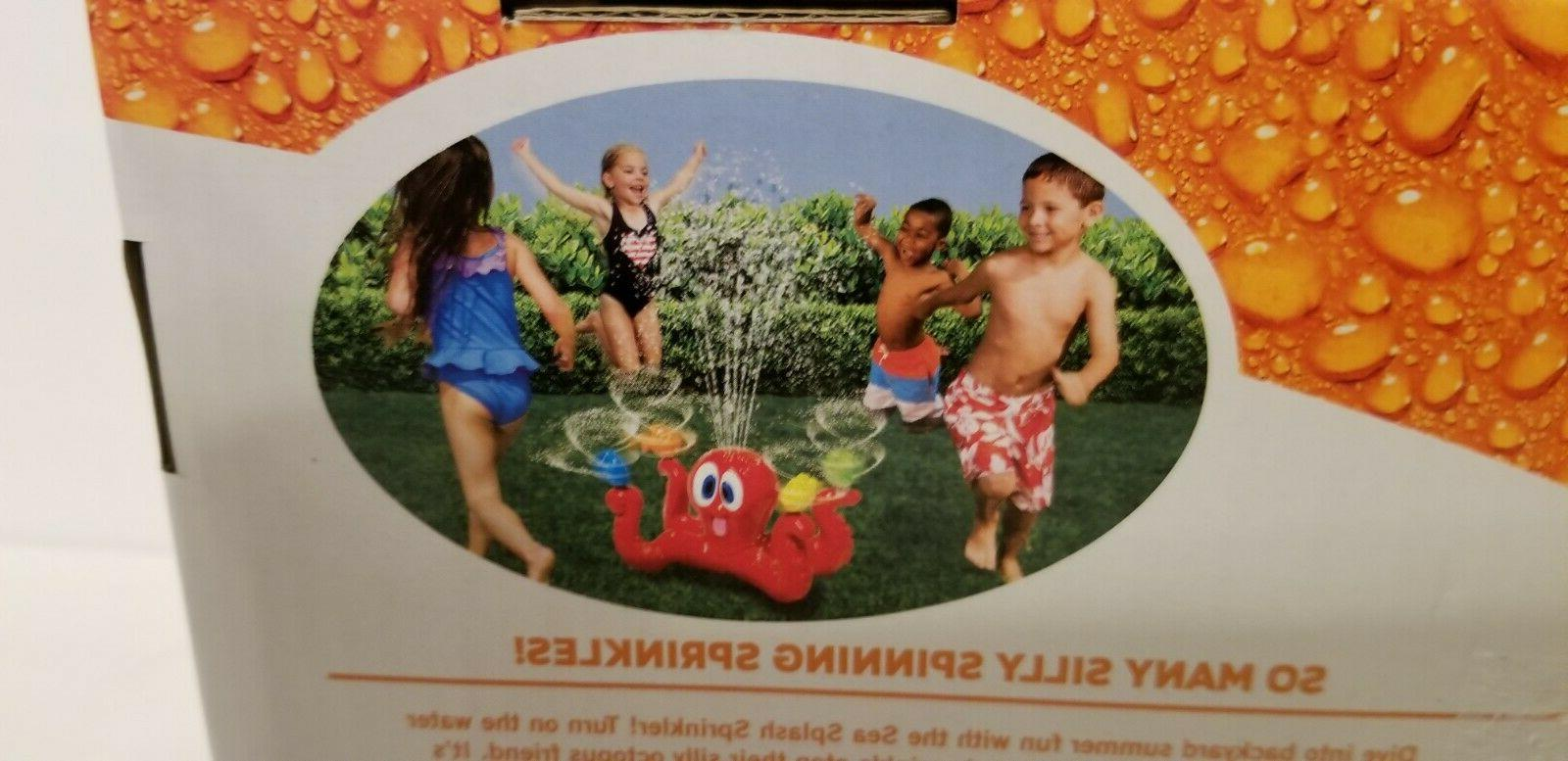 Banzai Splash Sprinkler Spinning NIP Outdoor Kids