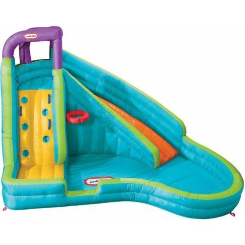slam n curve slide inflatable water pool