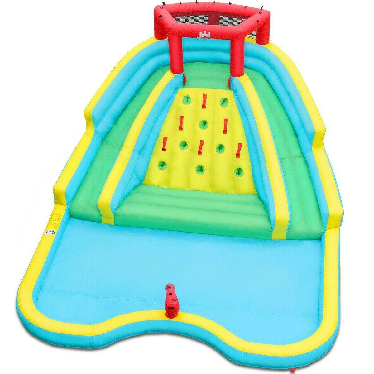 Inflatable Water Park Splash Adventure Water Slide Bouncer W