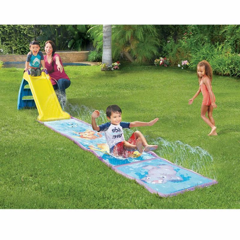 Slide With Slip Mat Wet Vinyl Water Kids