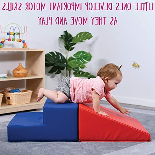 ECR4Kids SoftZone Beginner Foam Structure for Toddlers, Red/Blue