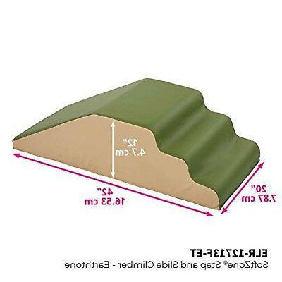 ECR4Kids Slide Foam Play Earthtone