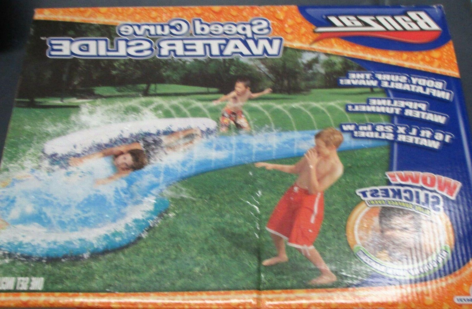 speed curve toy lawn water slide new