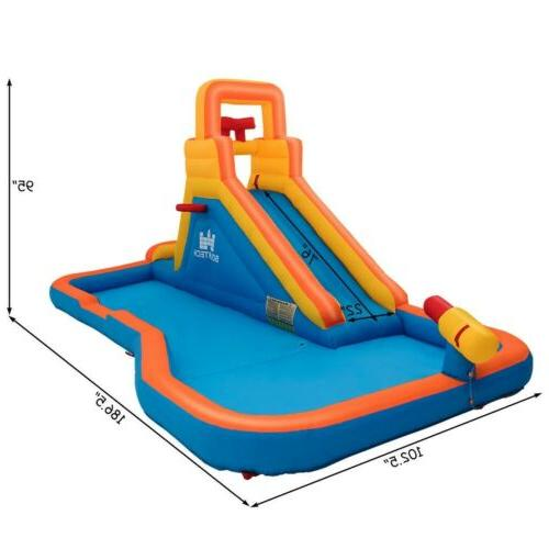 Splash Inflatable Water Bouncer with Climbing Wall Hoop US