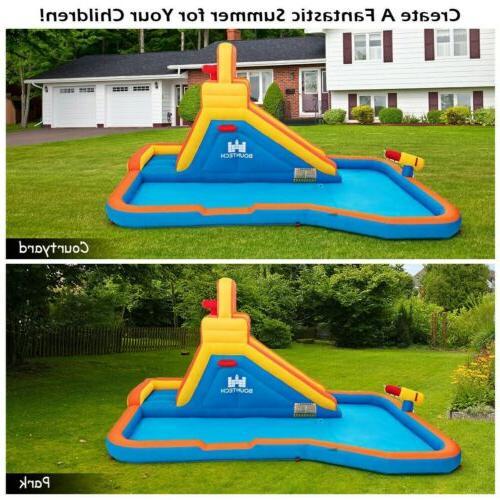 Splash Inflatable with Climbing Wall Ball Hoop US