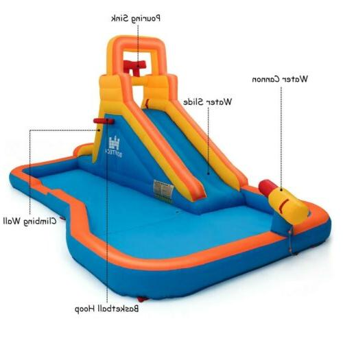 Splash Inflatable with Climbing Ball Hoop Water US