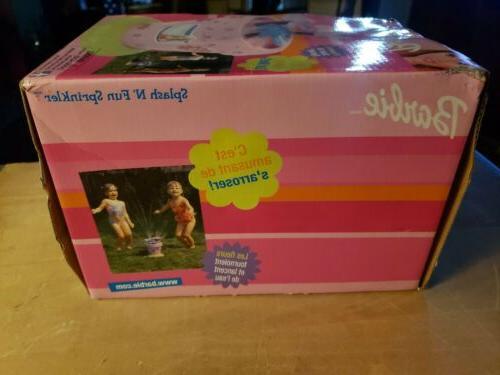 Barbie Splash Sprinkler. New in unopened box. & Spray