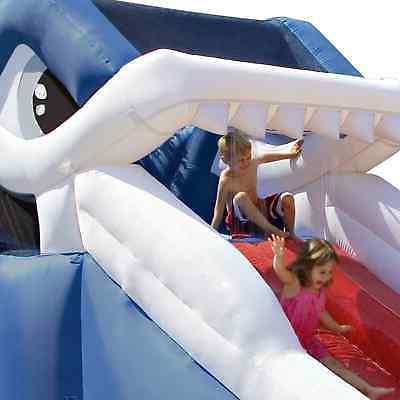 Splash Kids Wet Waterslide Shark Inflatable Water Slide Fun