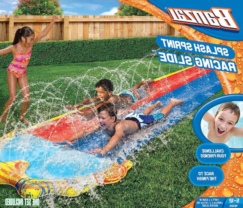 Banzai Water Slide 16 Foot Dual Splash Pool