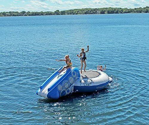 RAVE Sports O-Zone Water Bouncer w NIB White Blue Lake