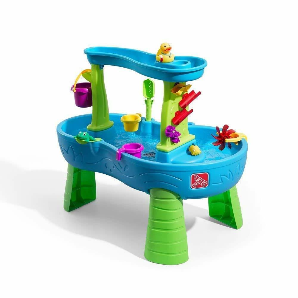 Step2 Rain Splash Pond Table Kids Play Table with 13-Pc