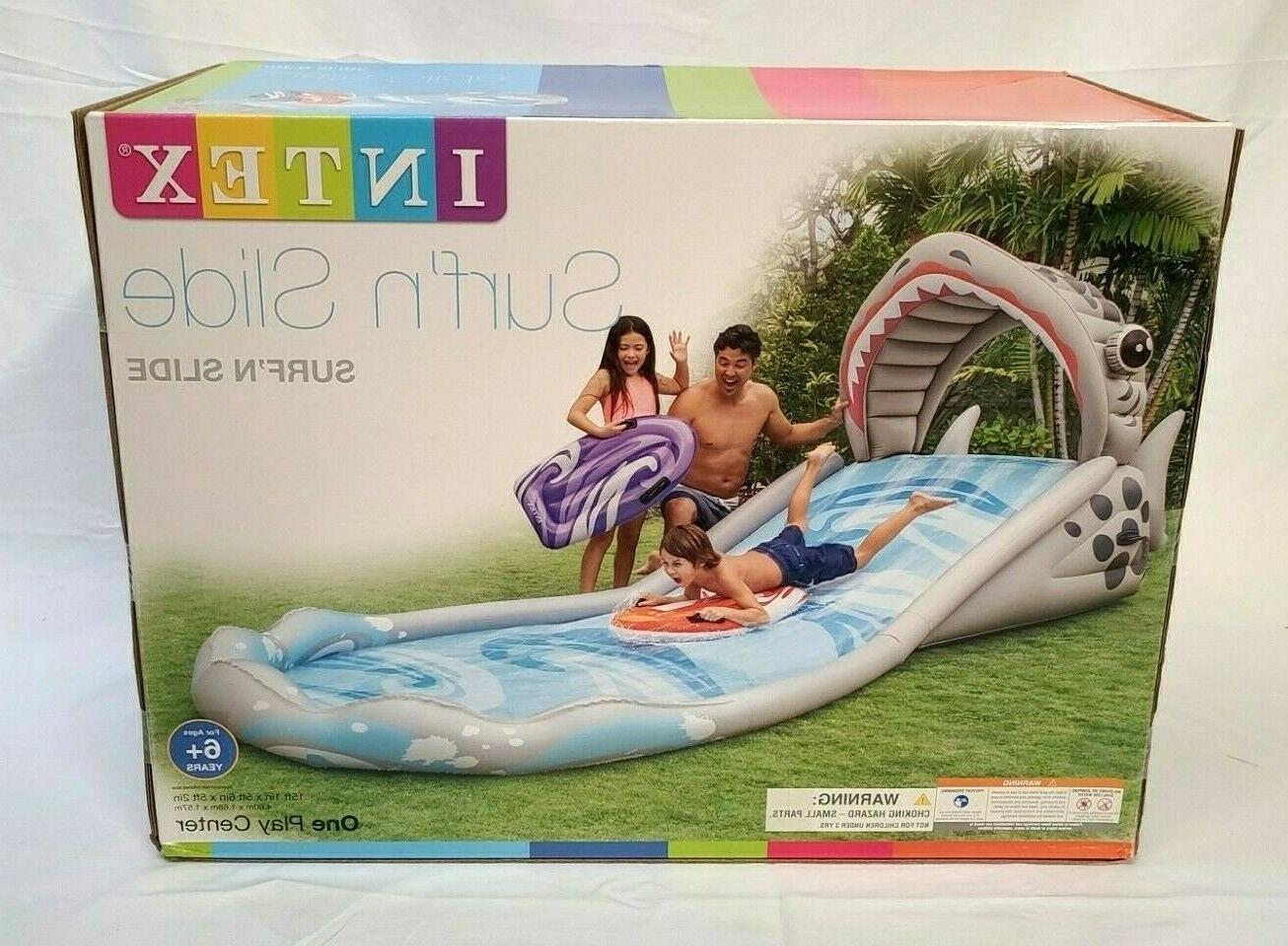 surf n slide inflatable kids backyard splash