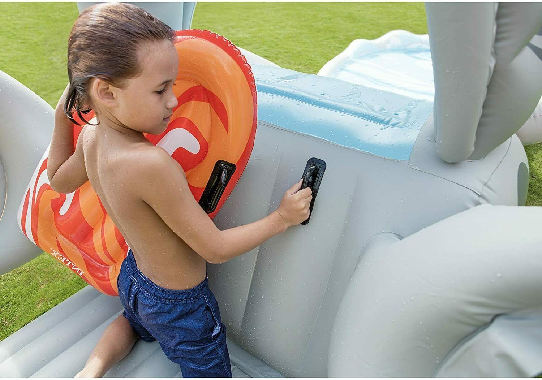 Intex 'N Inflatable Center Water Slide + Surf Riders