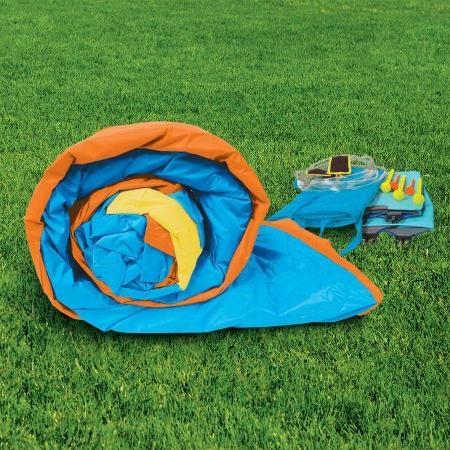 Banzai Twin Falls Dual Constant Air Water Slide Spring Summer Splash Backyard Toys