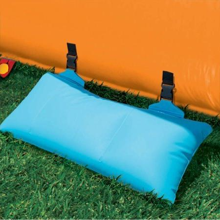 Banzai Dual Lane Inflatable Constant Slide Spring & Summer Splash Backyard Toys