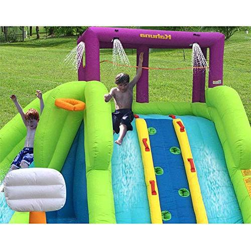 Kahuna Triple Kids Inflatable Splash Pool Water Slide