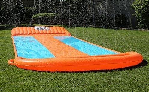 triple inflatable water slide big