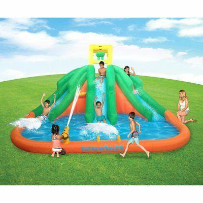 triple monster inflatable backyard kiddie