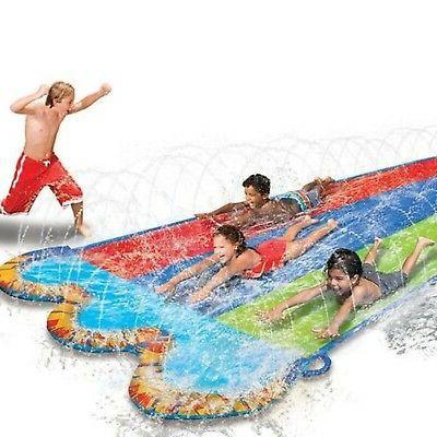 triple racer water 16 feet long slide