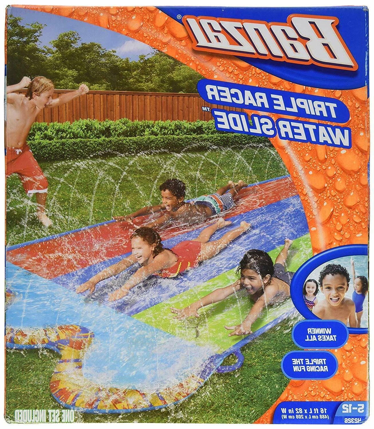 Brand New Banzai Triple Racer Water Slide with 3 Bonus Bord
