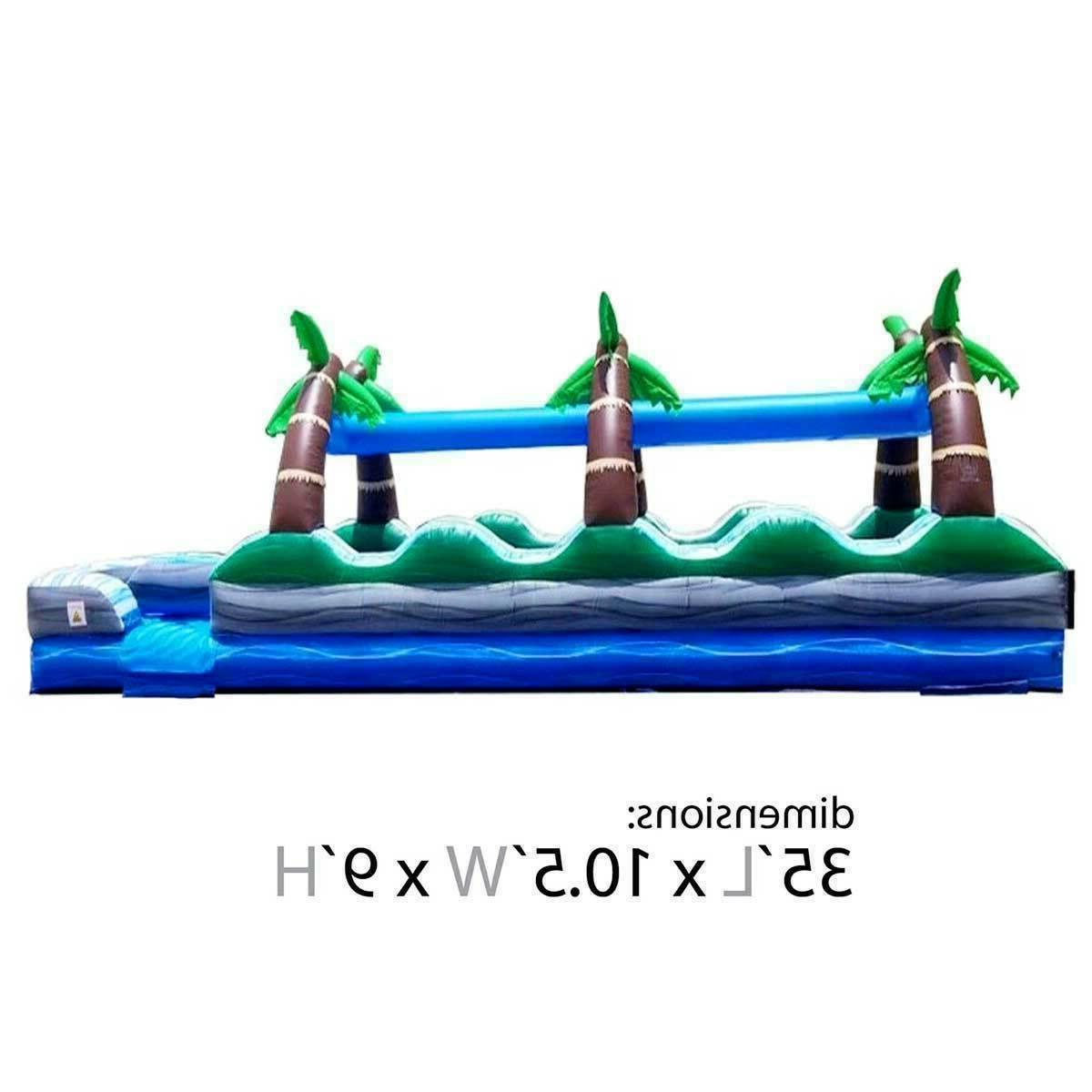 Tropical Commercial Slip n Water Slide & 35'L