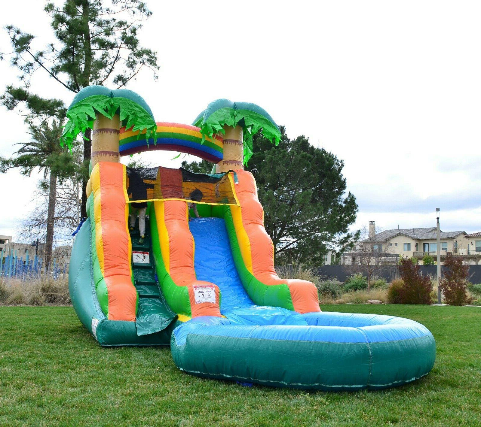 Tropical Inflatable Water 13 Tall, Pool & Blower