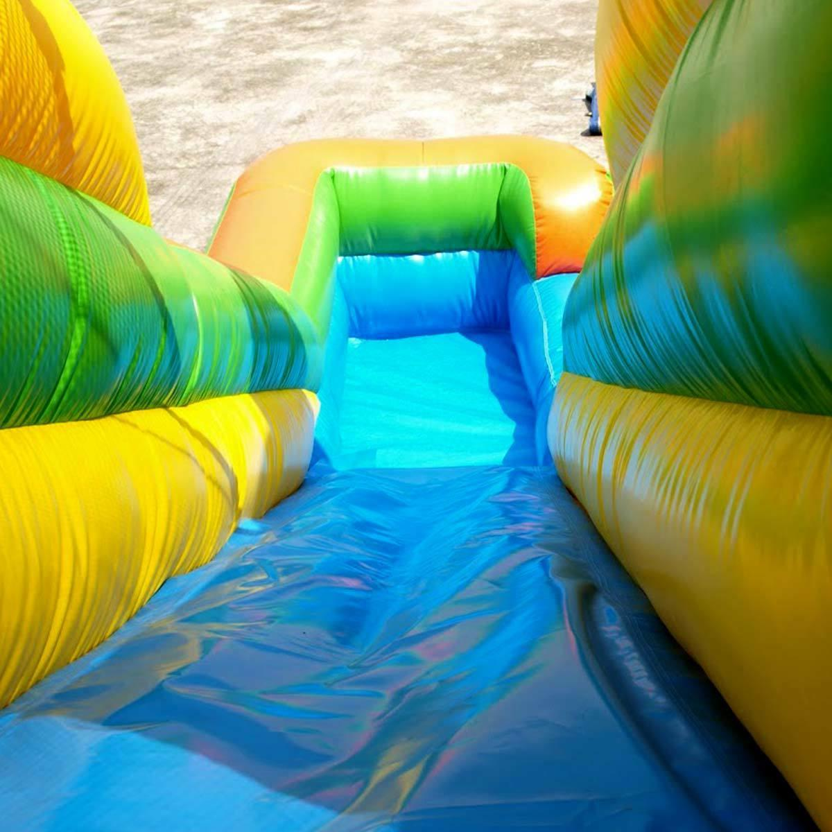 Tropical Inflatable Double Slide With Pool Combo