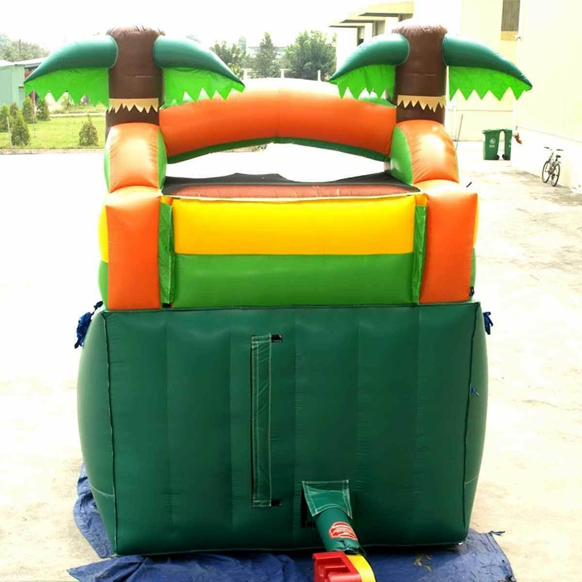 Tropical Inflatable Single Lane Wet Dry Slide W/ Blower