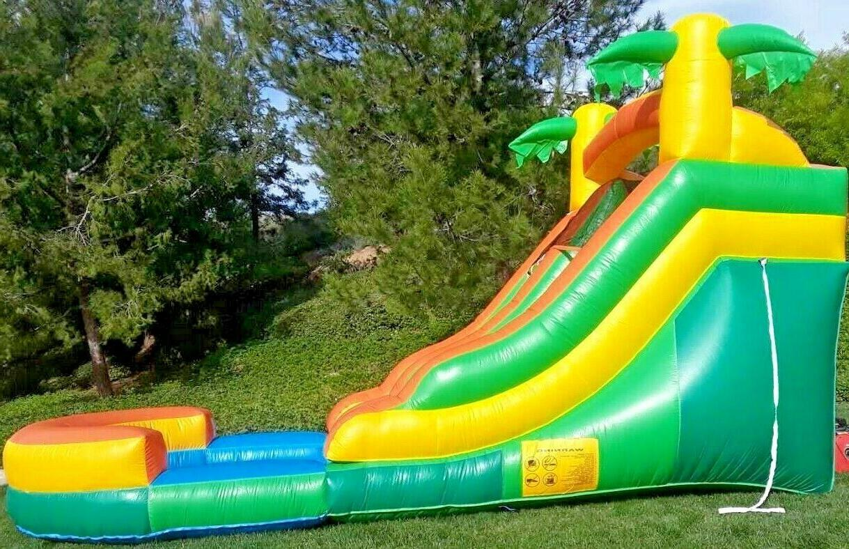 Tropical Theme Inflatable Slide 12 100% 1.5 HP Blower