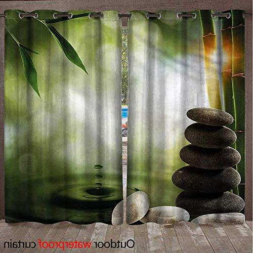 tropical ultraviolet protective curtains bamboo