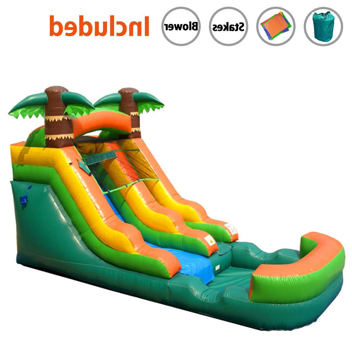 Inflatable Dry Slide Tropical Water Blower