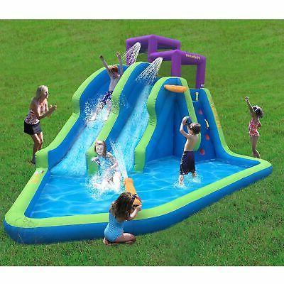 Kahuna Twin Falls Outdoor Inflatable Backyard Water Slide Park