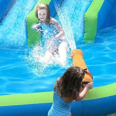 Kahuna Twin Outdoor Inflatable Splash Water Slide Park