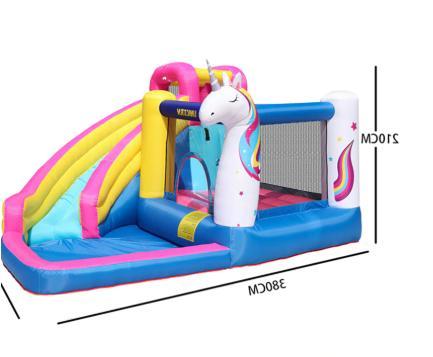 Unicorn Inflatable Castle Slide Blower toy